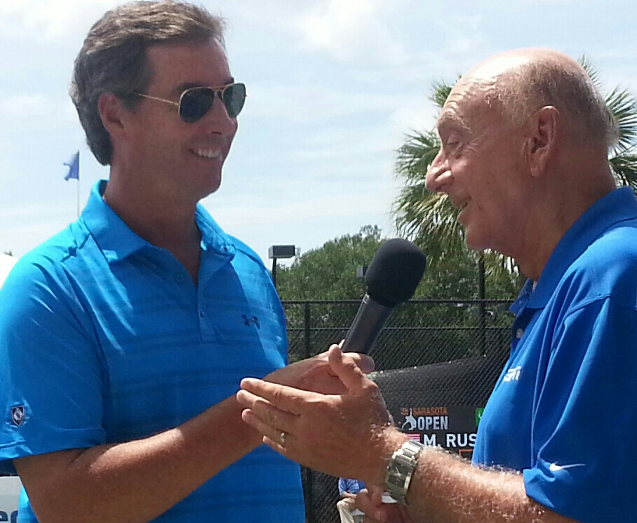 Ray Collins interviewing Dick Vitale