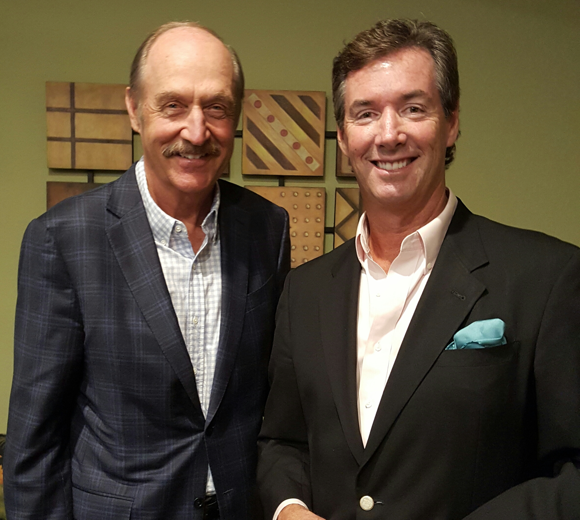 Tennis Hall of Famer Stan Smith with Ray Collins.