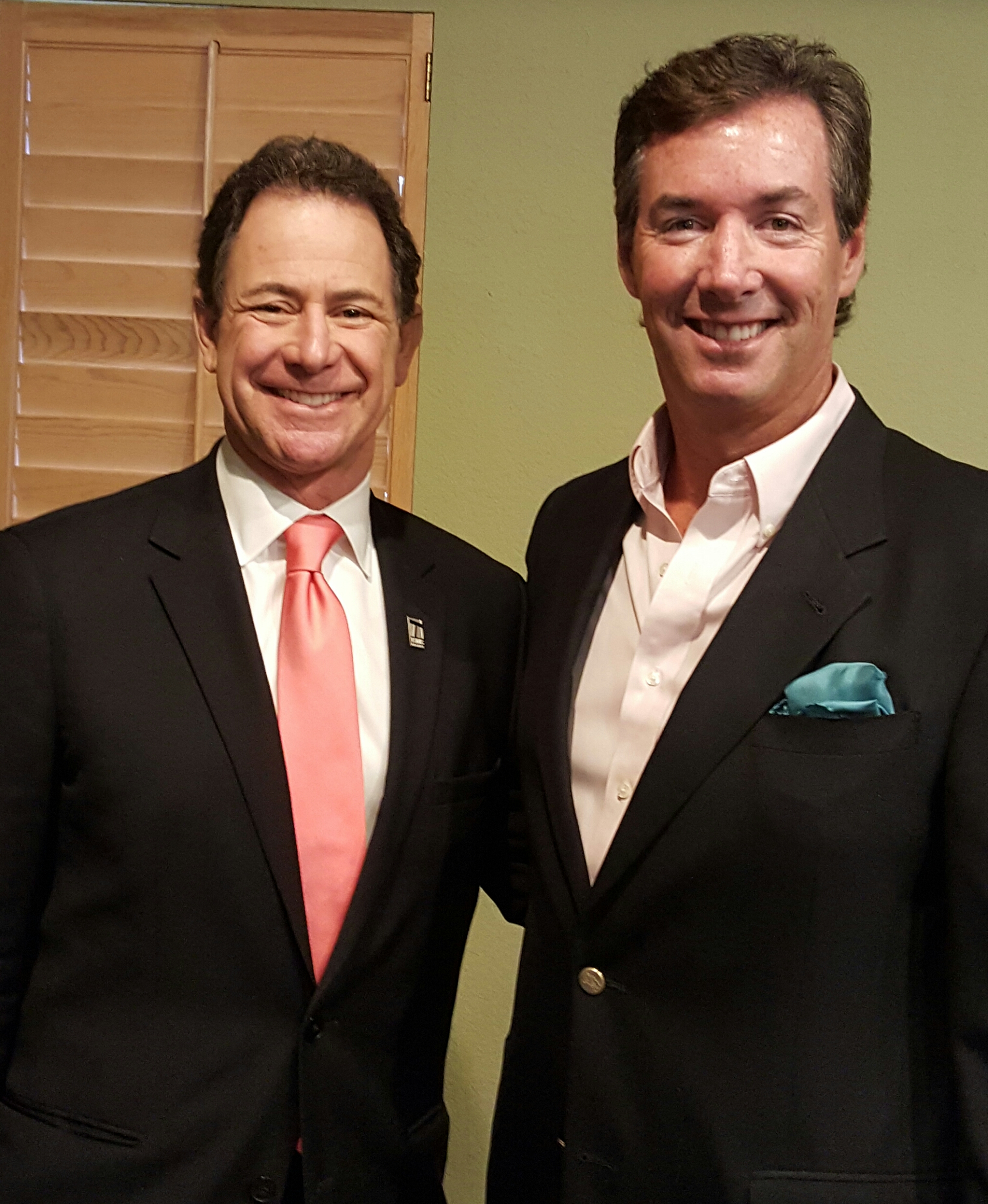 The Tennis Channel Chairman & CEO Ken Solomon and Ray Collins.