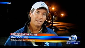 Ray Collins covering Hurricane Hermine