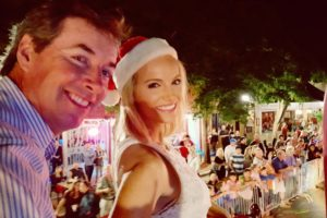 Ray & Jacqueline in holiday parade