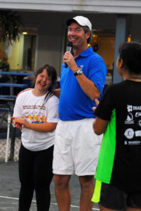 Ray Collin hosting Buddy Up for Down Syndrome event