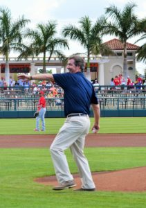 Ray Collins Opening Pitch for Baltimore Orioles