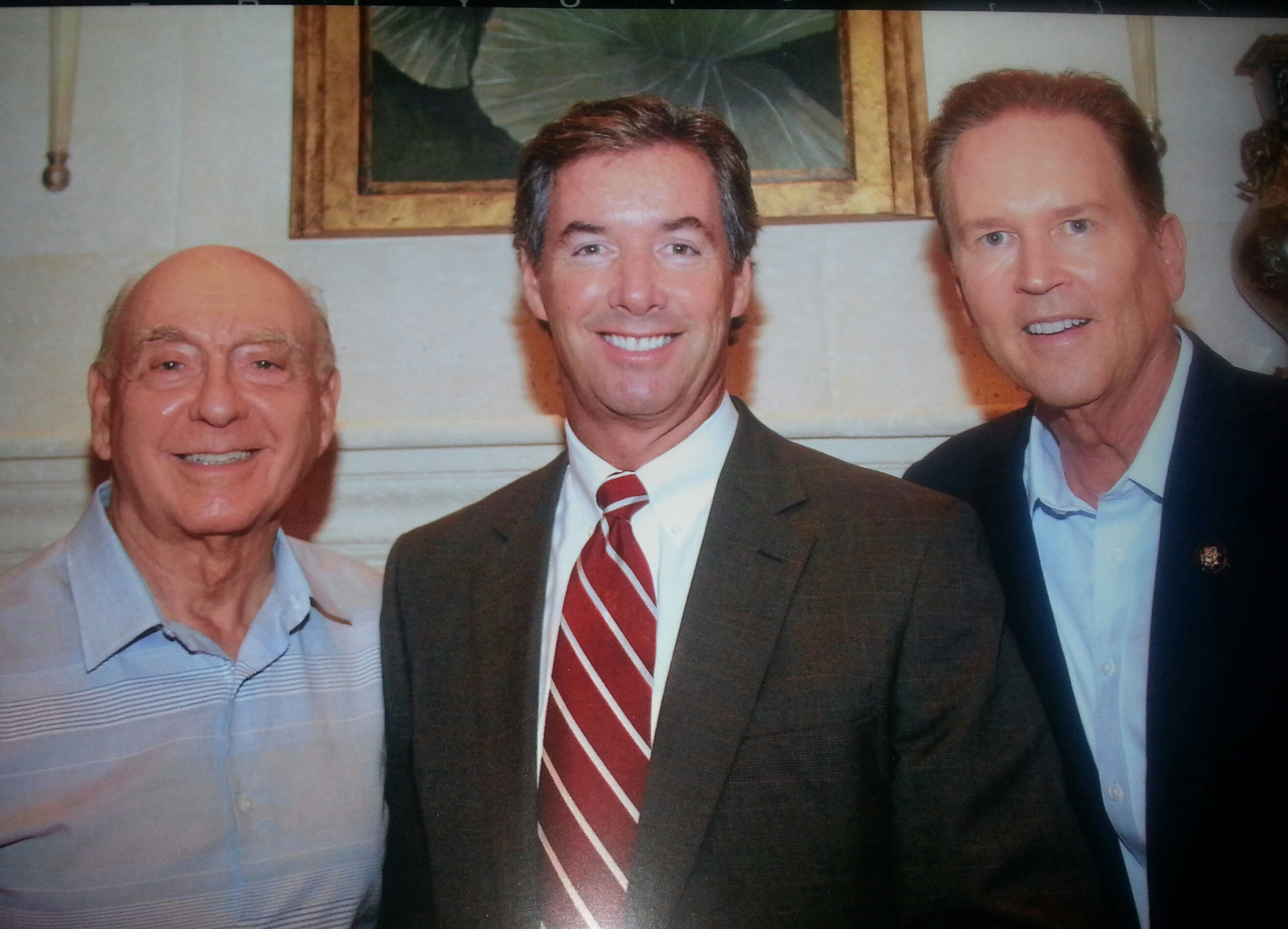 Dick Vitale, Ray Collins & U.S. Rep. Vern Buchanan (R-FL).