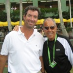 Ray Collins and Nick Bollettieri in Key Biscayne.