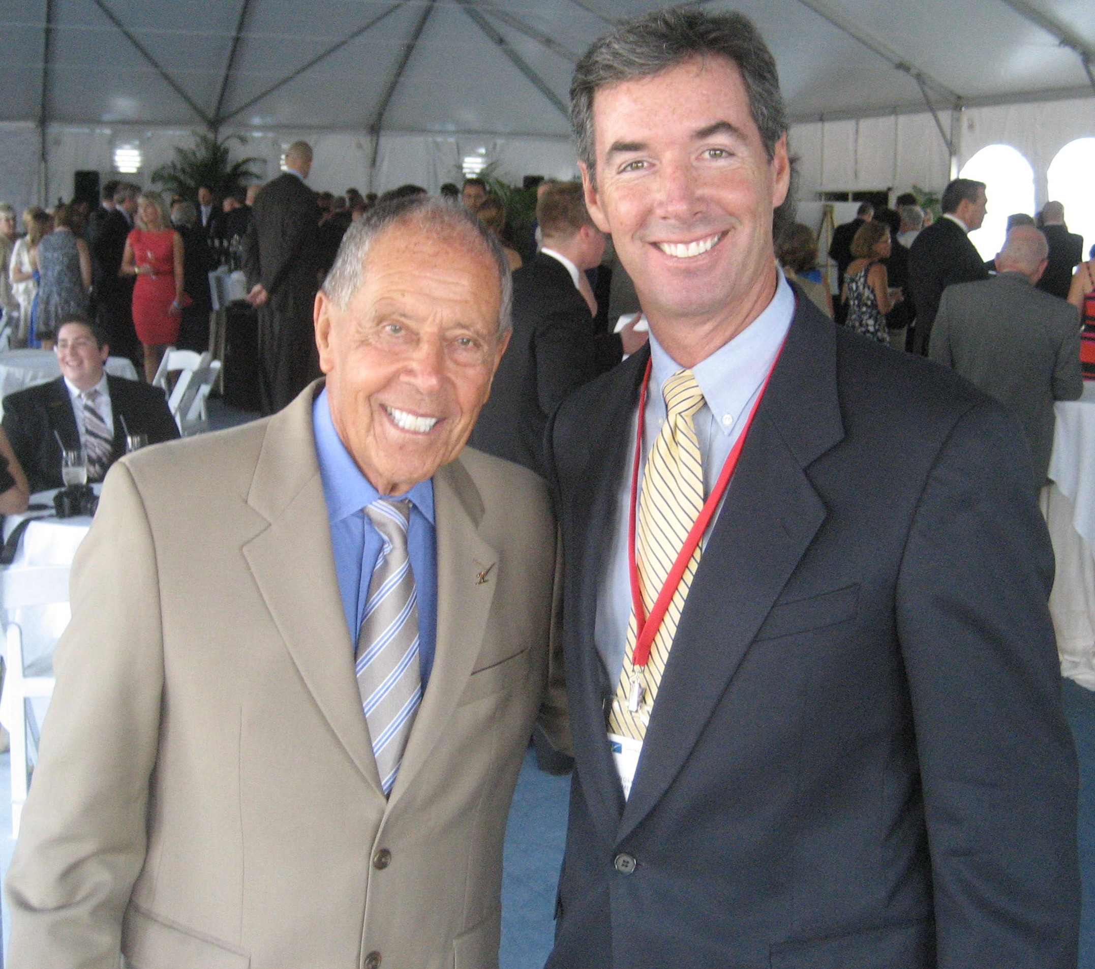 Tennis coaching legend Nick Bollettieri and Ray Collins.