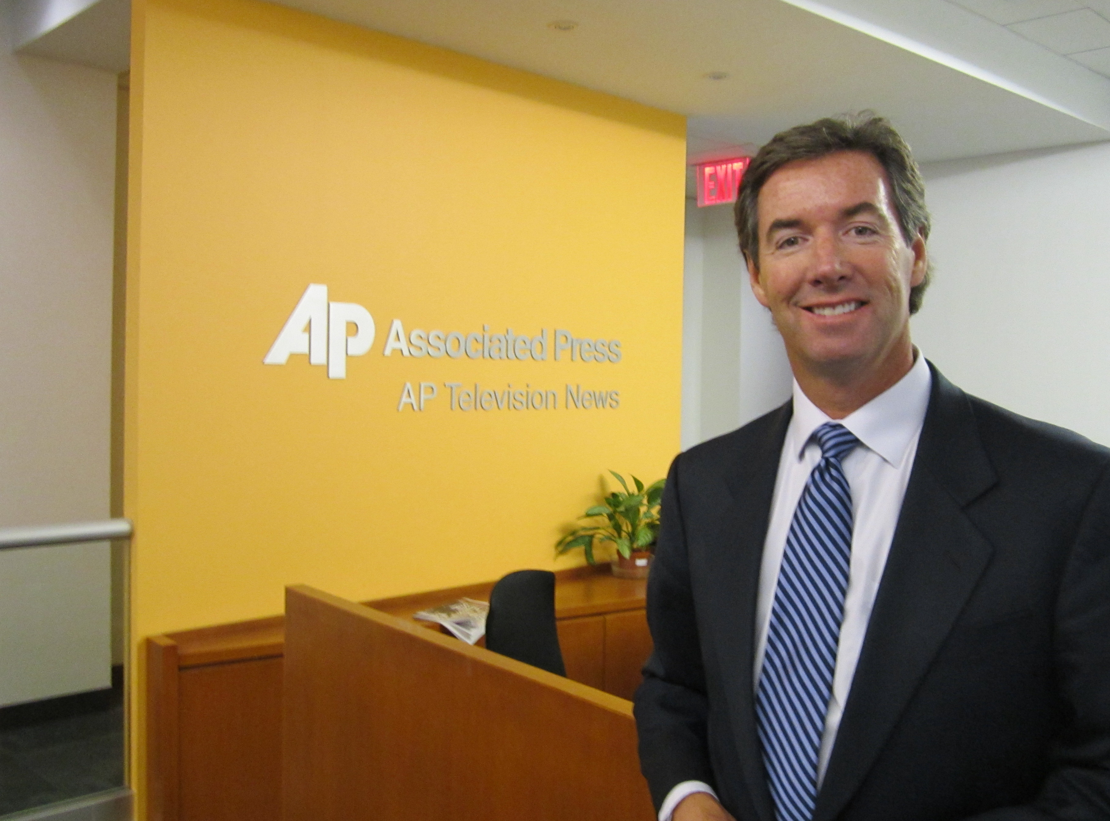 Ray Collins at the Associated Press headquarters in New York.