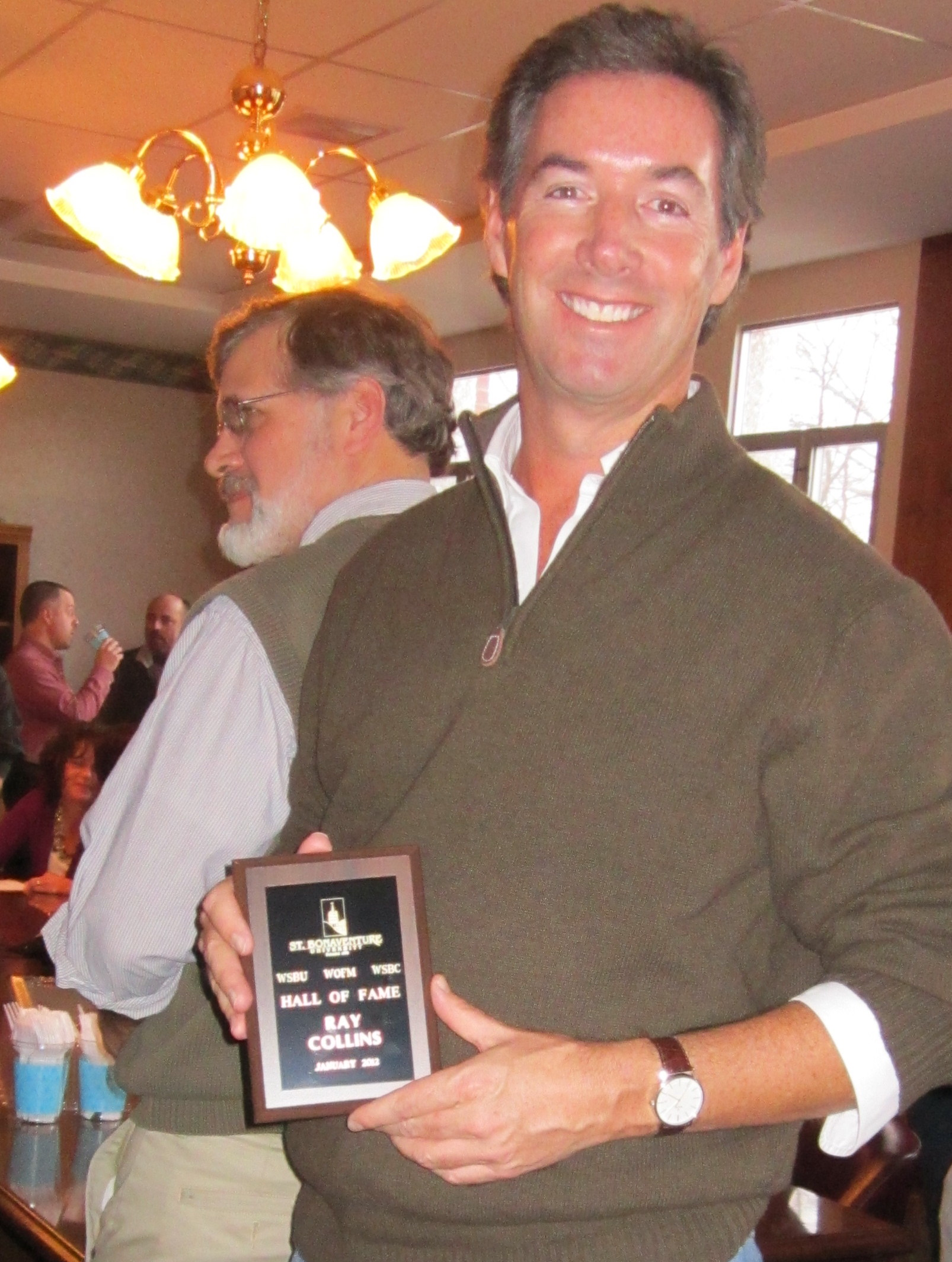 """Ray Collins inducted into the St. Bonaventure University radio """"Hall of Fame."""""""