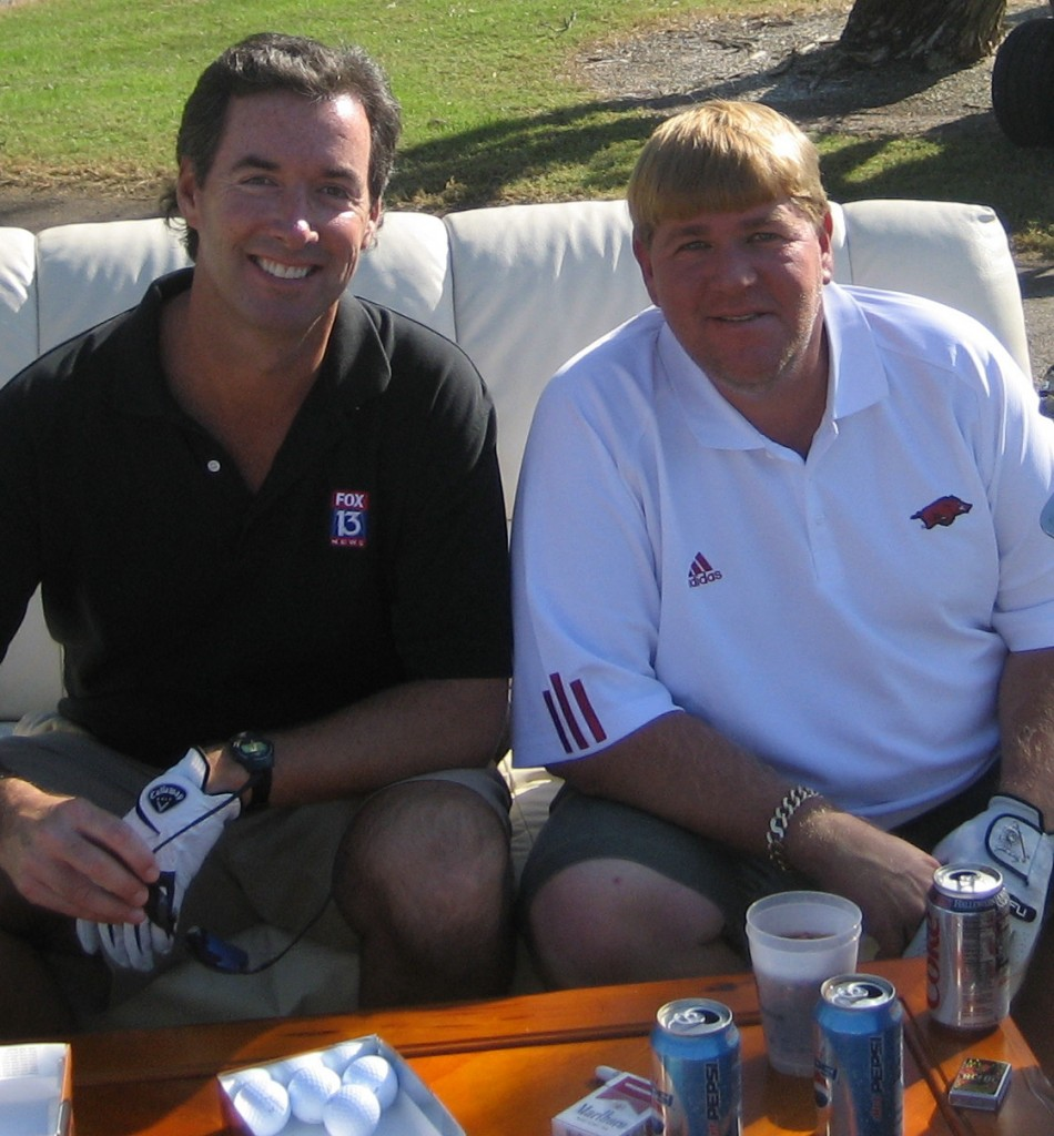 Ray Collins and golfer John Daly at the Longboat Key Club.