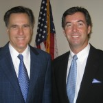 After an interview with Presidential candidate Mitt Romney and Ray Collins.