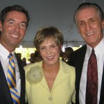 Ray Collins, CBS's Lesley Visser and NBA's Pat Riley.