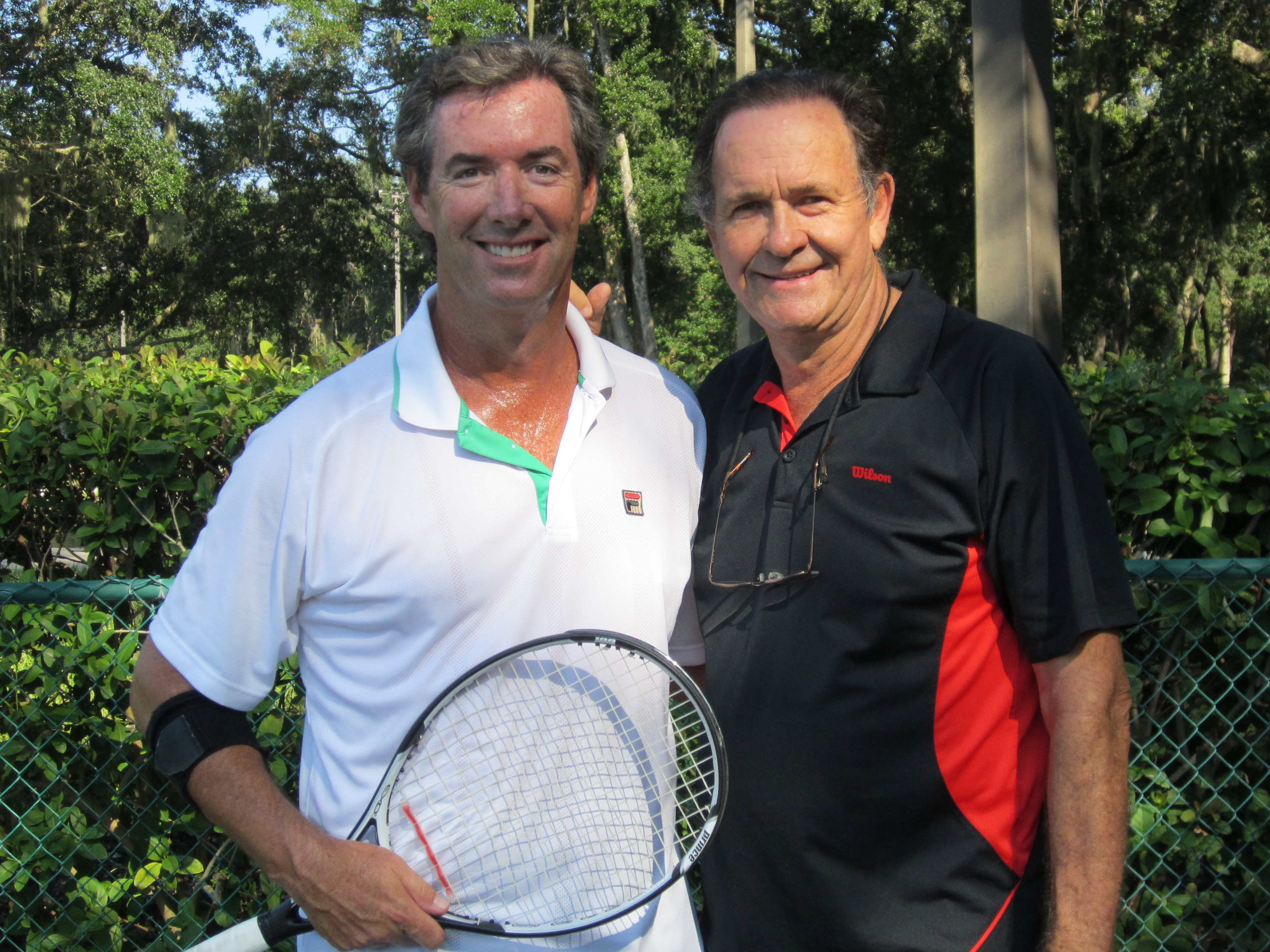 Ray Collins and Tennis Commentator Cliff Drysdale on Amelia Island.