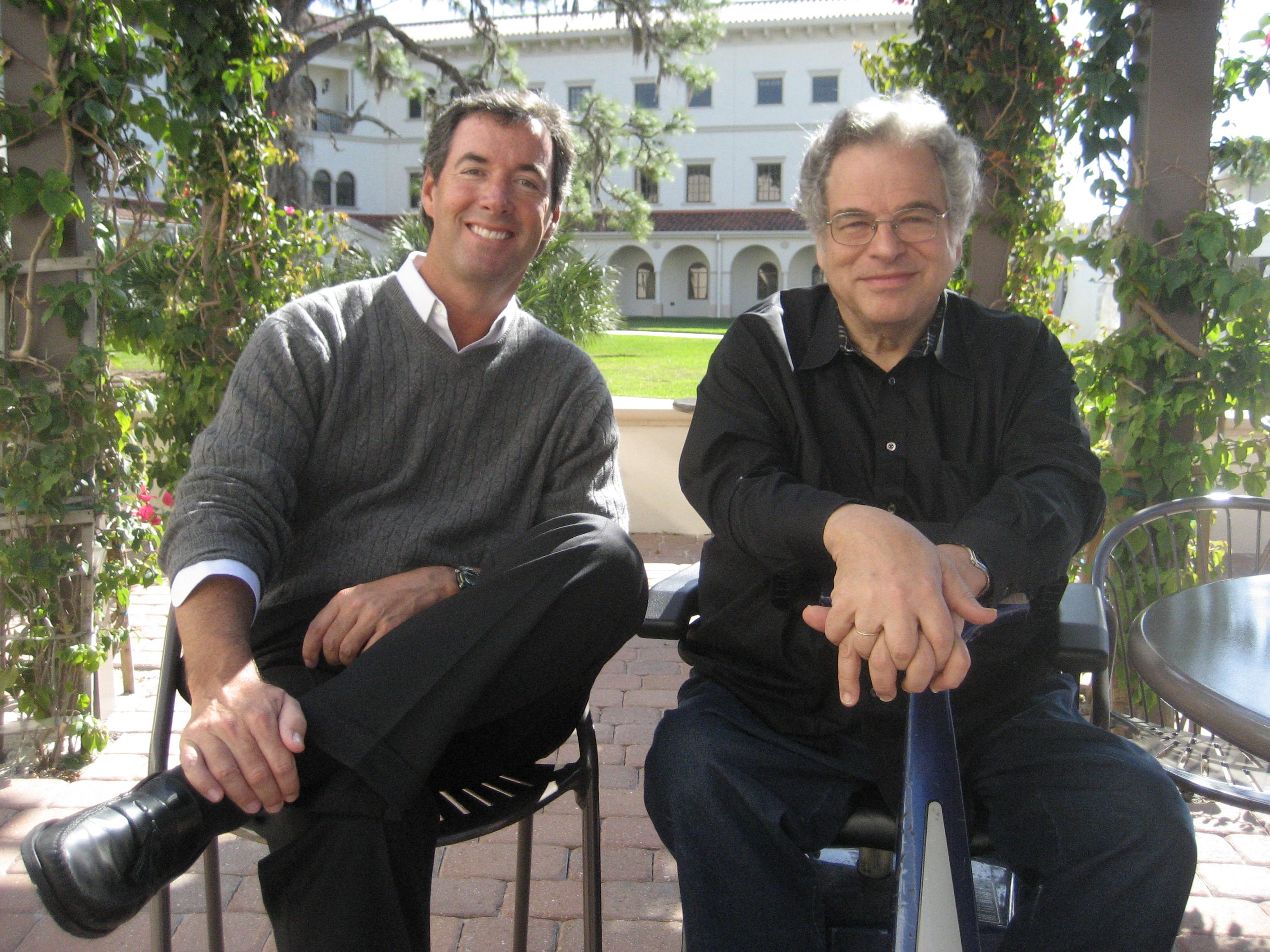 Ray Collins and violinist Itzhak Perlman.