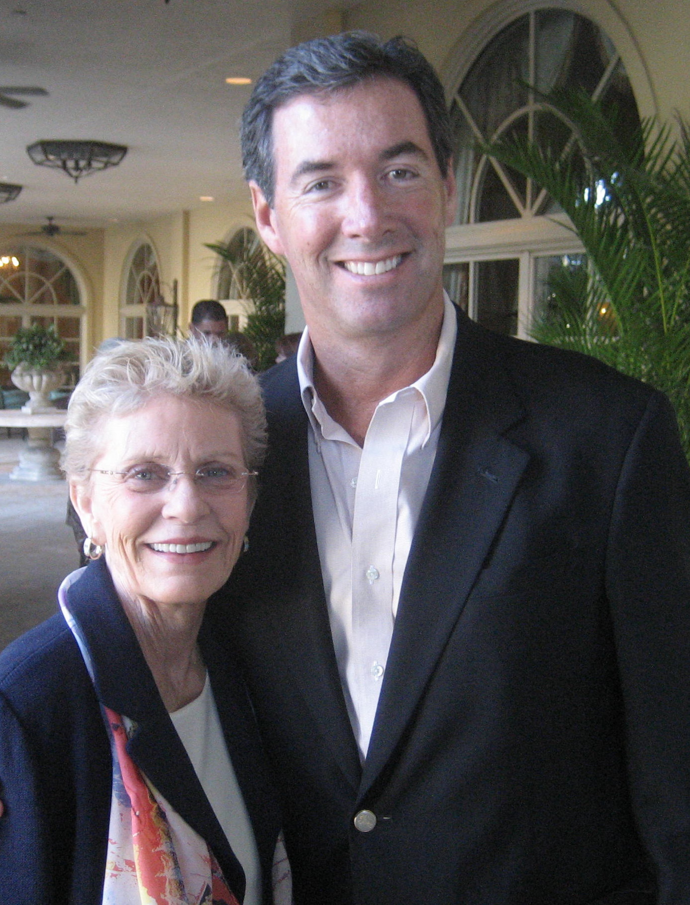 Actress Patty Duke and Ray Collins at the Ritz Carlton.