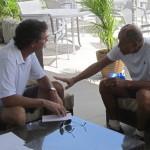 Ray Collins & tennis legend Nick Bollettieri on Longboat Key.