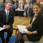 Ray Collins interviewing Wall Street's Hilary Kramer in Las Vegas.