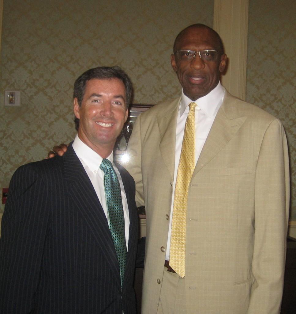 Ray Collins and NBA Hall of Famer Bob Lanier.