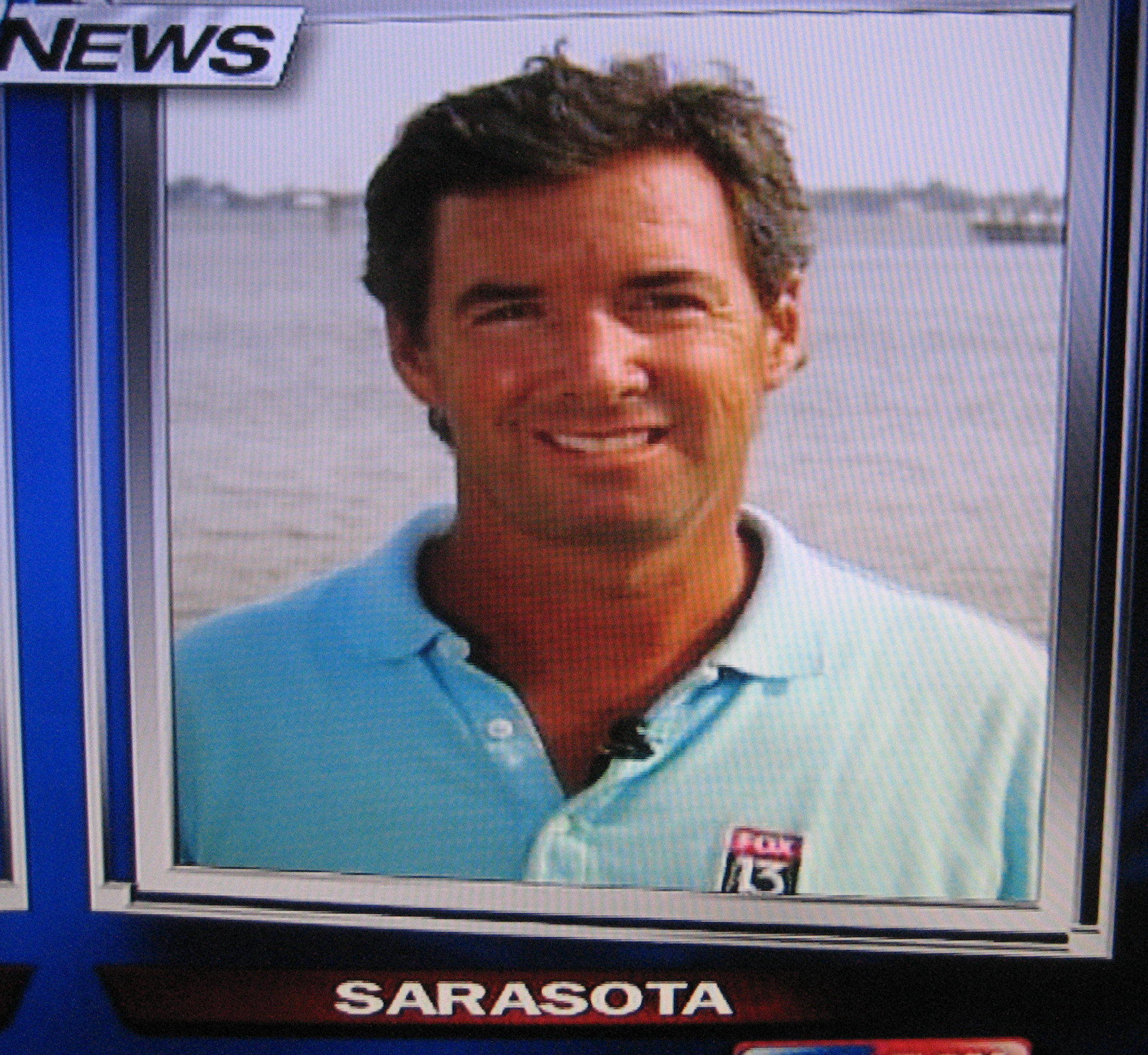 Ray Collins reporting live from Sarasota Bay on Fox 13 News.