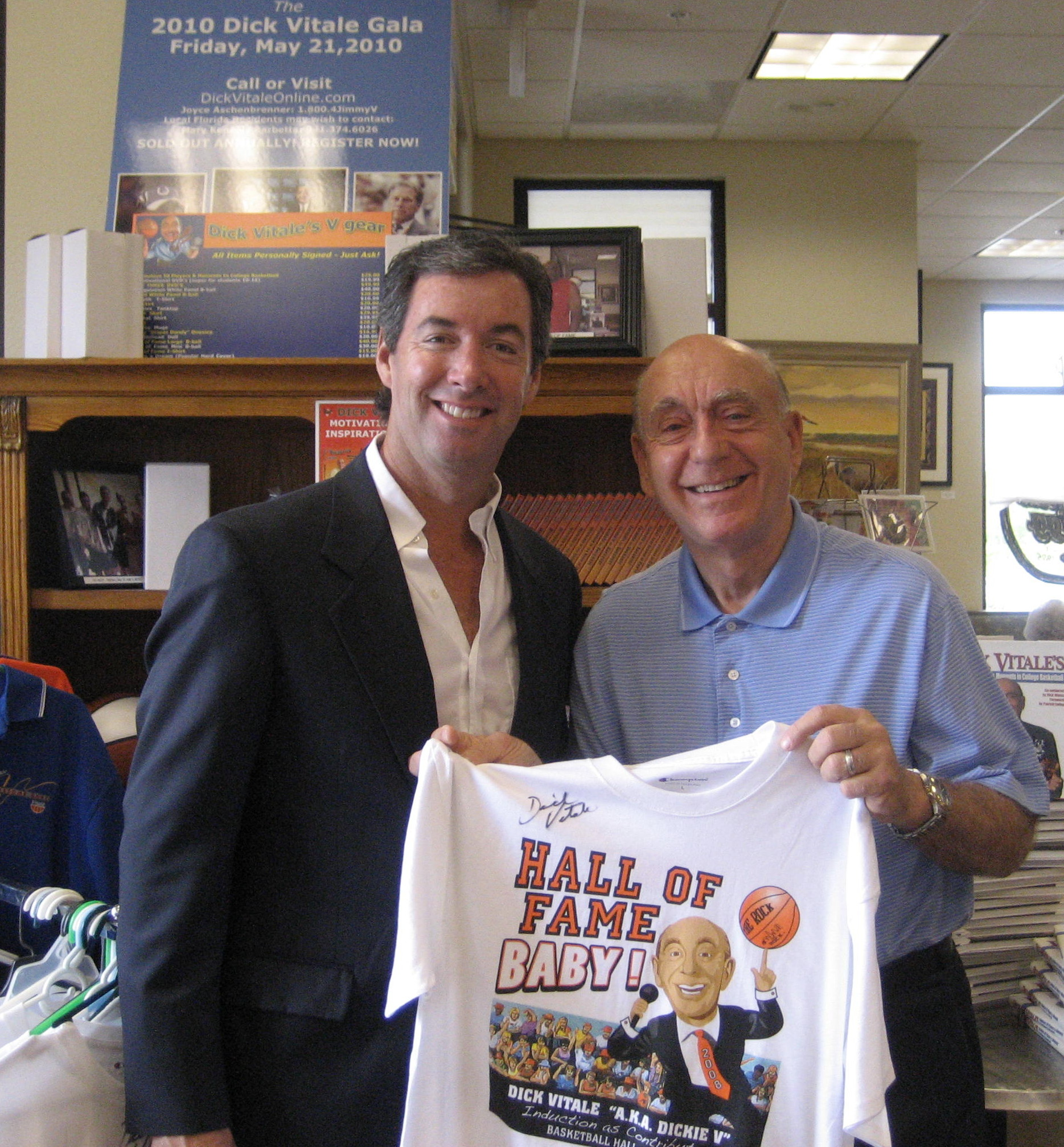 Ray Collins and college basketball announcer Dick Vitale.