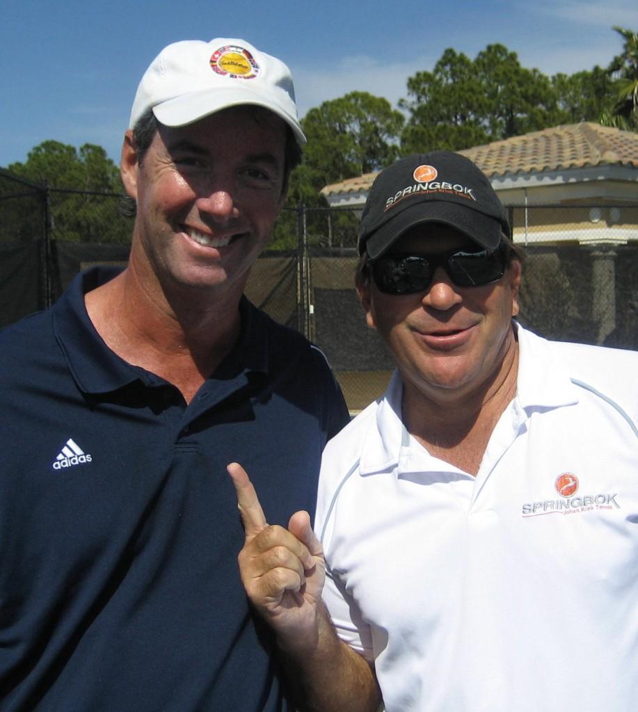 Ray Collins and Australian Open winner Johan Kriek.