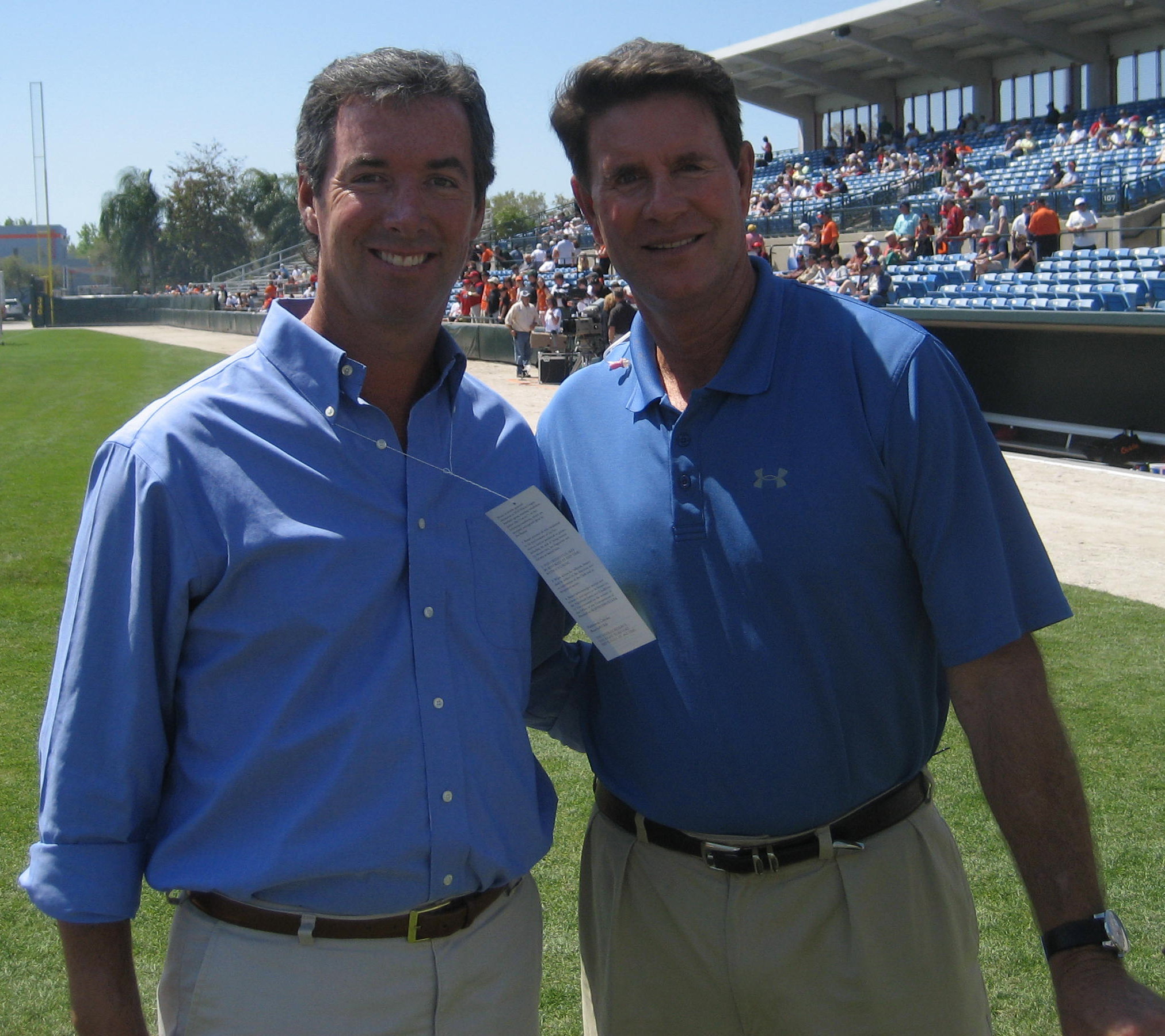 Ray Collins and Orioles Hall of Famer Jim Palmer.