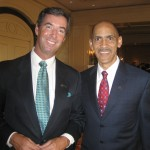 Ray Collins and former NFL coach Tony Dungy.
