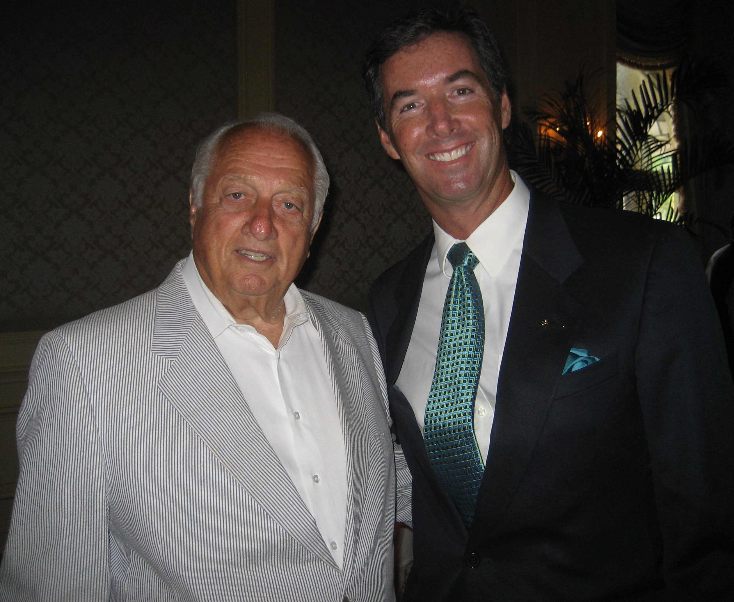 Los Angeles Dodgers Coach Tommy Lasorda and Ray Collins.