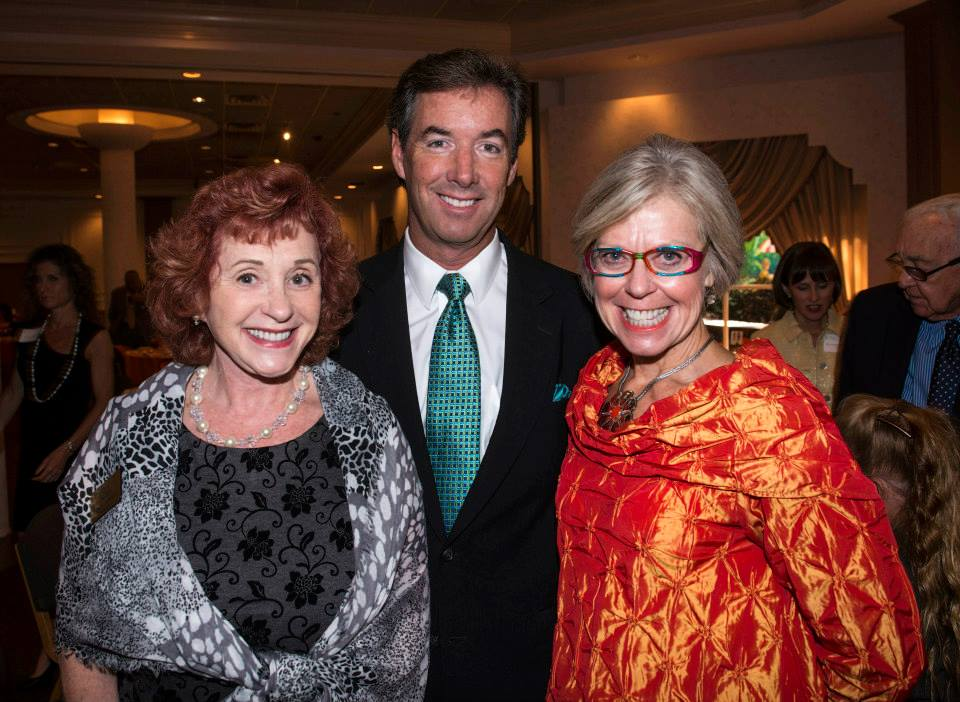 Pines Foundation President Estelle Crawford, Ray Collins, Sarasota Foundation President Roxie Jerde.