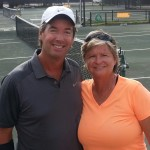 Ray Collins & 1980's tennis Hall of Famer Hana Mandlikova