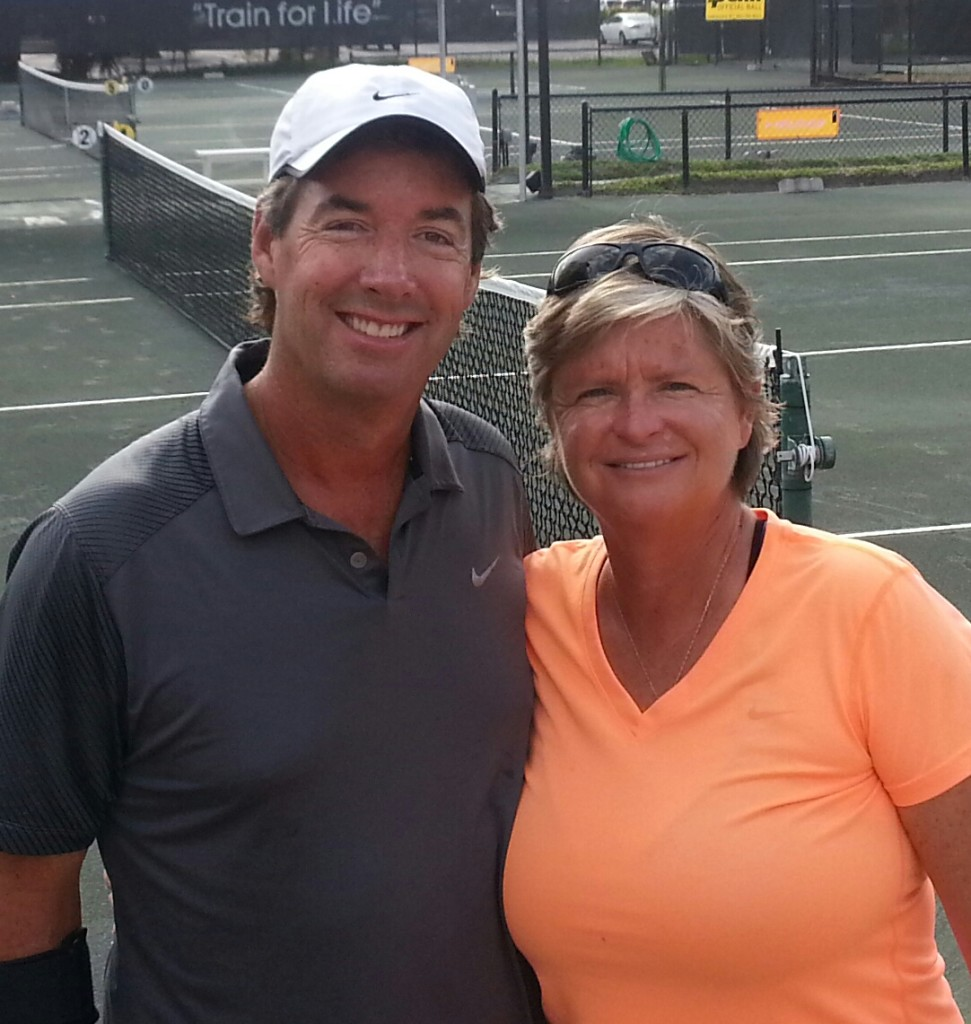 Ray Collins & 1980 s tennis Hall of Famer Hana Mandlikova Ray