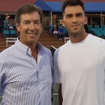 Ray Collins and Wimbledon Doubles champ Horia Tecau in Bradenton.