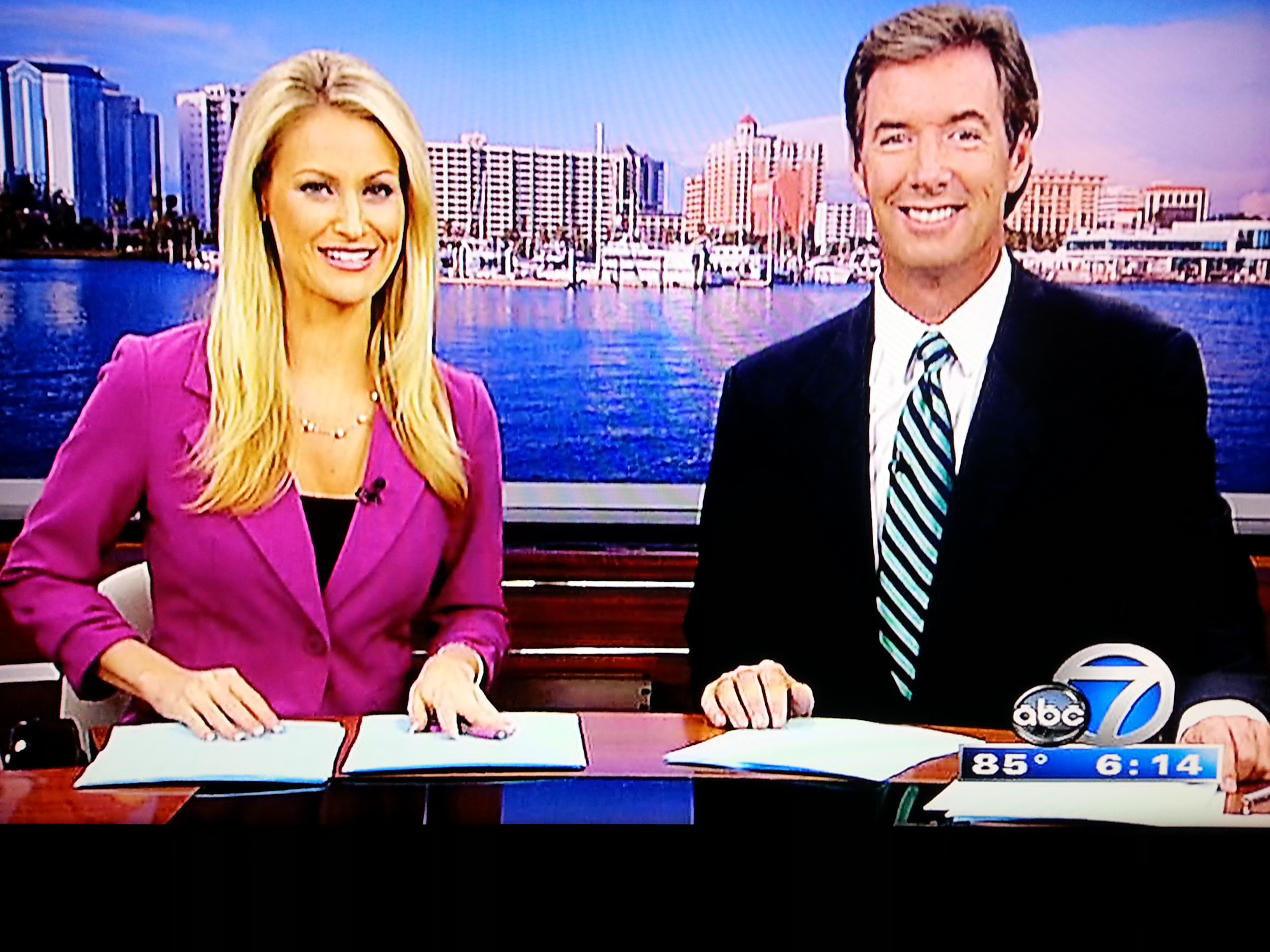 Lauren Dorsett & Ray Collins on ABC 7 in Sarasota.