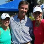 Lisa Raymond, Ray Collins & Rennae Stubbs