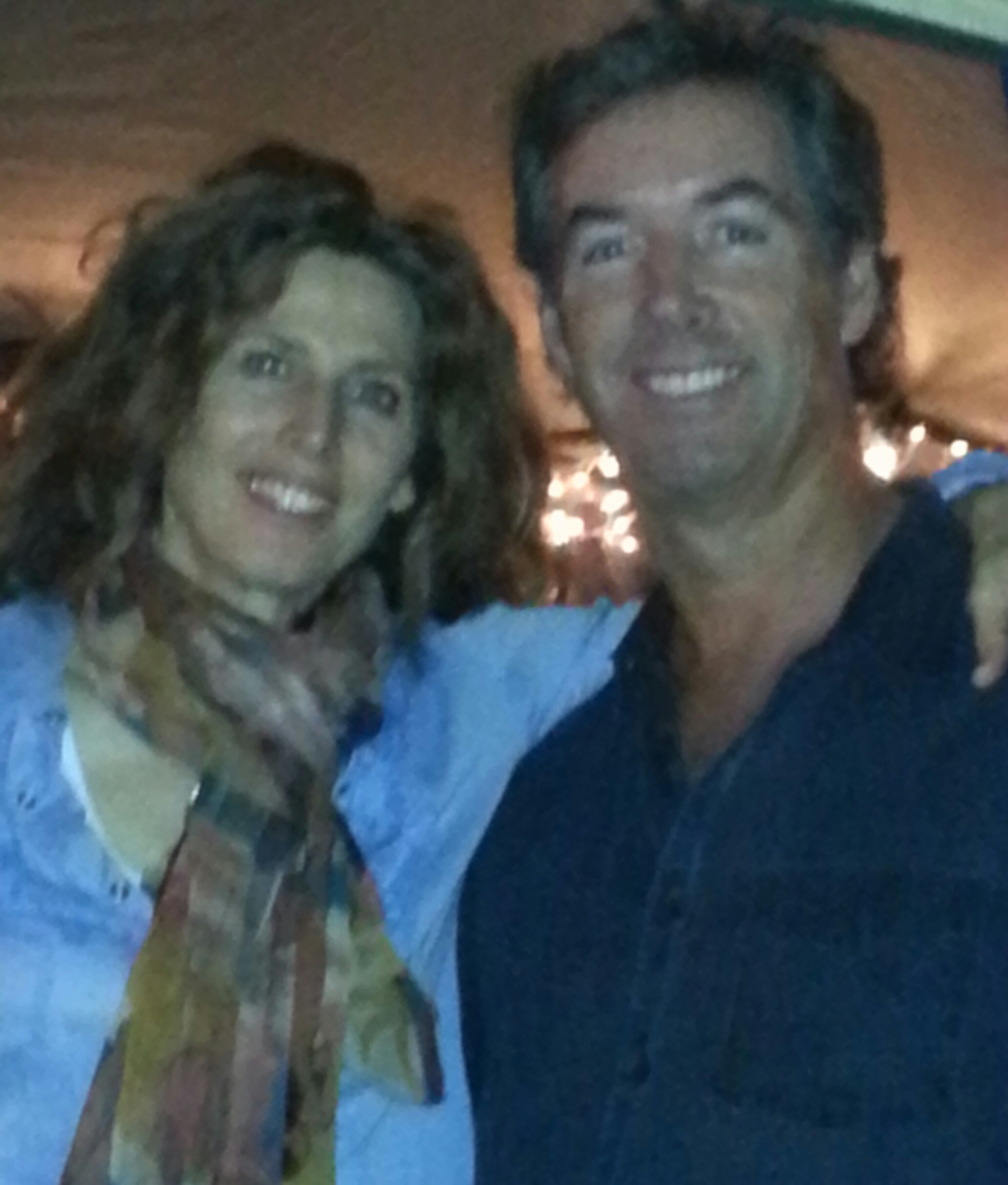 Singer Sophie B. Hawkins and Ray Collins in Bradenton, FL.