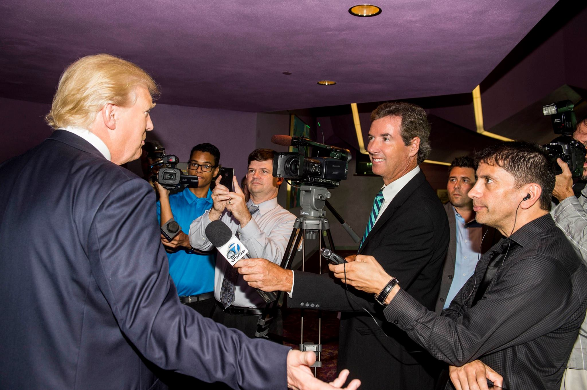 Ray Collins interviewing Donald Trump