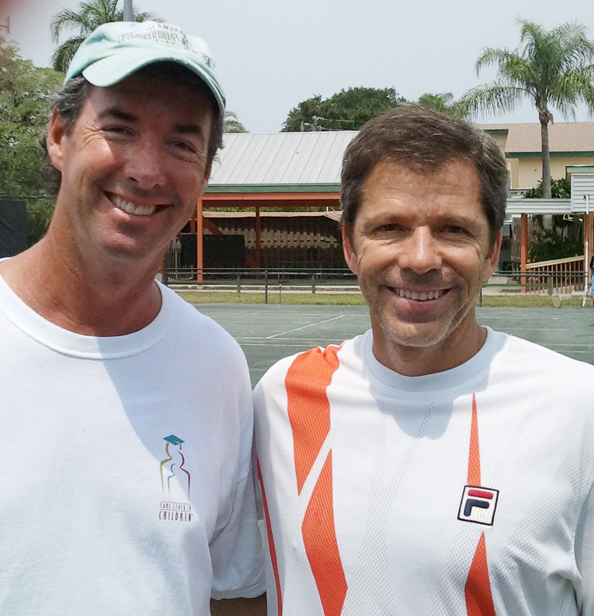 Ray Collins and former #5 tennis player in the world Jimmy Arias.