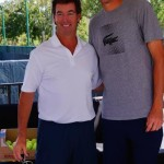"Ray Collins with the #1 U.S. tennis player John Isner. (6'9"")"