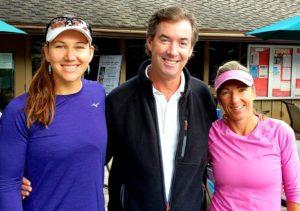 With Nicole Melichar and Kveta Peschke